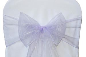 Organza chair sash, lavender Cost per sash: TT$2.75