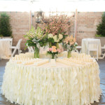 Skirting, willow, ivory, for round or rectangular table, 17' Cost per skirting: TT$200.00