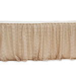 Skirting, lace and burlap, for round or rectangular table, 17' Cost per skirting: TT$200.00
