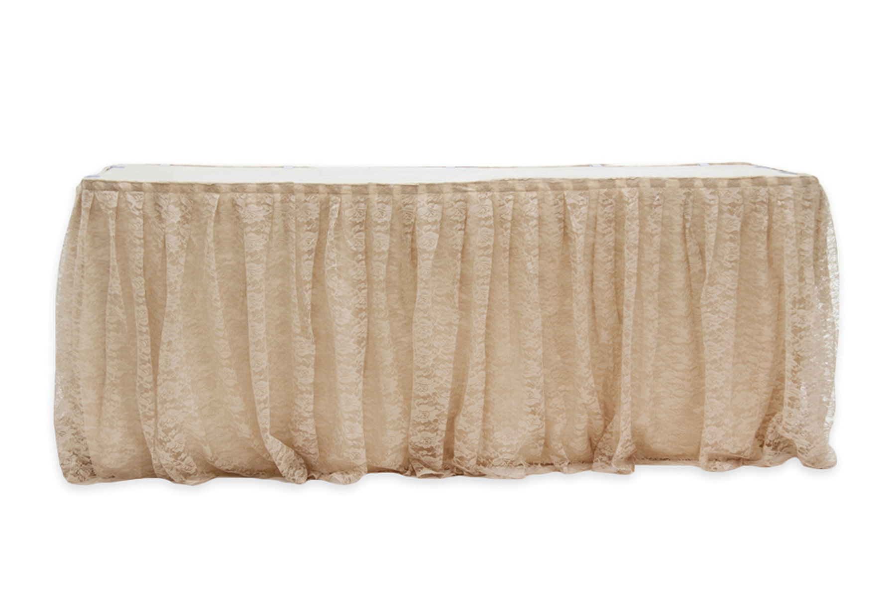 Skirting Lace And Burlap For Round Or Rectangular Table