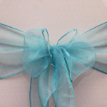 Organza chair sash, dark turquoise Cost per sash: TT$2.75