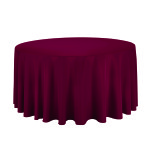 Table cloth, for 5' table, round, burgundy Cost per table cloth: TT$40.00