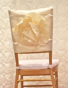 Chiavari Chair Cap, Ivory - $4/cap