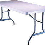 Table, folding, rectangular, 8'(large). Cost per table: TT$40.00
