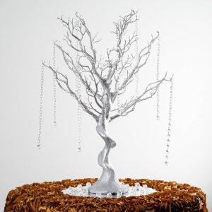 Manzanita tree (centrepiece, silver). Price: $200/centrepiece