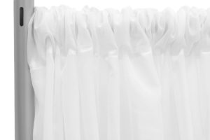 Sheer Voile Stage backdrop - White. $30/panel
