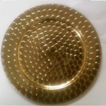 Gold Charger Plate Price: TT$3.25 per plate for orders over 60 Price: TT$4.00 per plate for orders less than 60