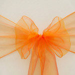 Organza chair sash, orange Cost per sash: TT$2.75