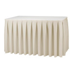 Skirting, for 6' table, rectangular Cost per skirting: TT$100.00