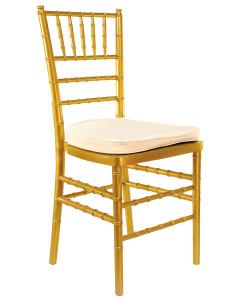 Gold/tan, white cushion. Price: TT$13.00 per chair for orders over 60. Price: TT$15.00 per chair for orders under 60. ADD $1.00 for white cushion