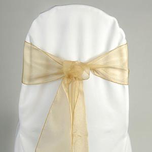 Organza chair sash, gold Cost per sash: TT$2.75
