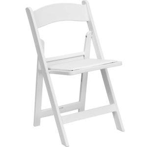 White Folding Chair Price: TT$9.00/chair