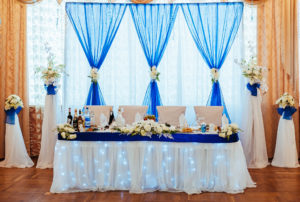 8' - 10' Backdrop with drapes - Estimated $3000. Request quotation based on size needed.