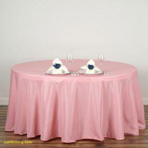 Polyester tablecloth, round, blush/rose. Price: TT$40.00/item