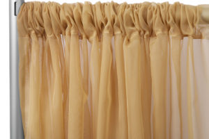 Sheer Voile Stage backdrop - Gold. $30/panel