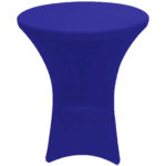 Cocktail cover, spandex, royal blue - $40/cover