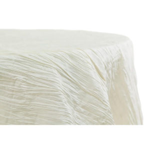Crinkle tablecloth, ivory, round - $40/tablecloth
