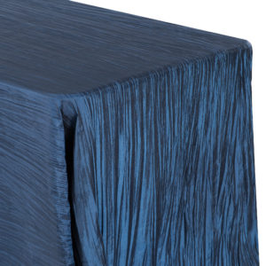 Crinkle tablecloth, navy, rectangular - $40/tablecloth