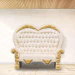 Throne Love Couch, gold - $800